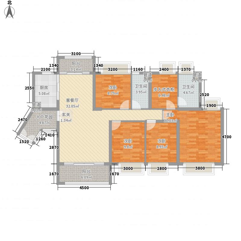 保利公园九里139.80㎡保利公园九里户型图D区1号楼/8号楼B栋04单元4室2厅2卫1厨户型4室2厅2卫1厨