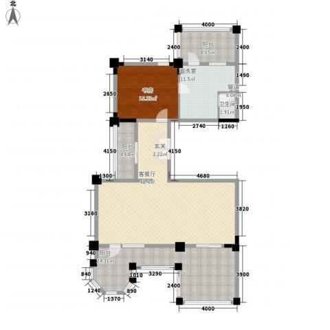 中海御龙湾1室2厅1卫0厨162.00㎡户型图