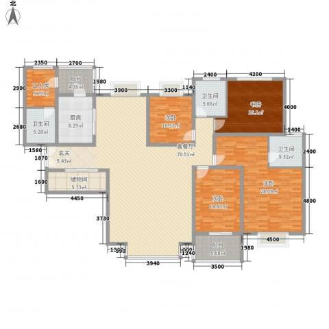 美林湾4室1厅3卫1厨238.00㎡户型图