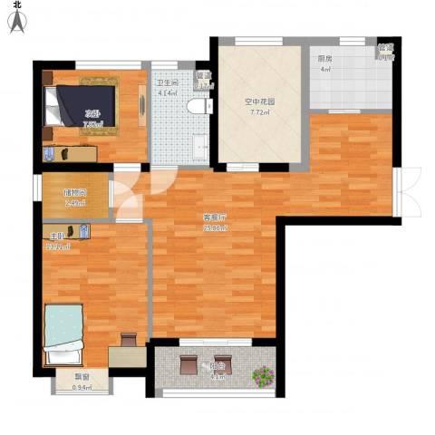 中环城紫荆公馆2室1厅1卫1厨100.00㎡户型图