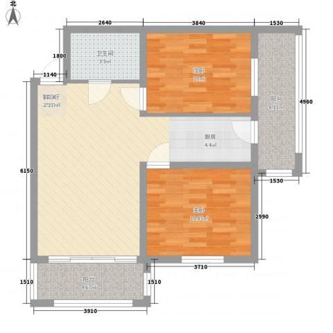 睿城臻品2室1厅1卫0厨62.57㎡户型图
