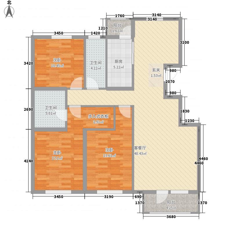 阳光香蜜湖143.00㎡4#T5-2户型3室2厅2卫1厨