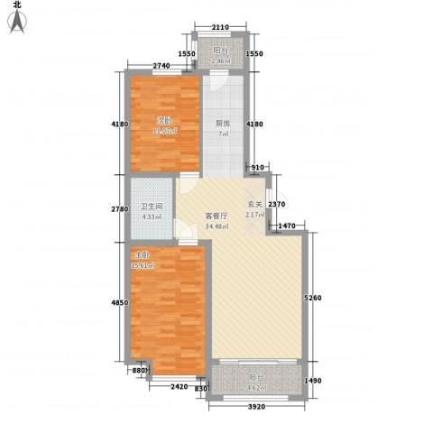 睿城臻品2室1厅1卫0厨72.57㎡户型图