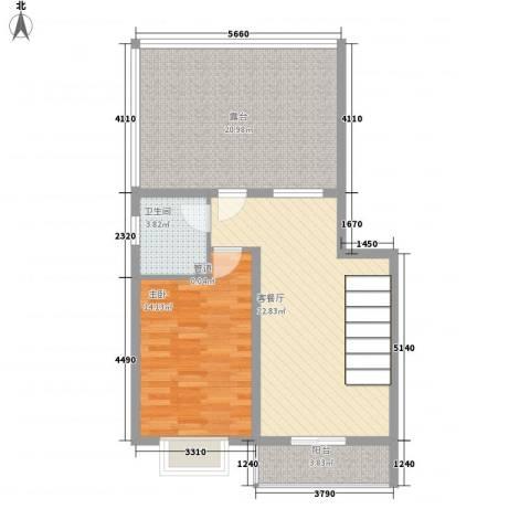 家和苑1室1厅1卫0厨68.00㎡户型图