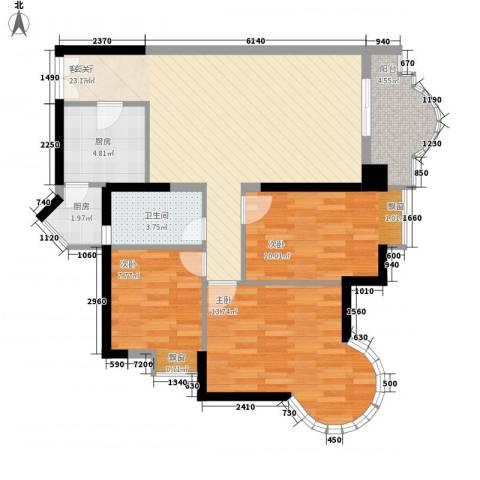 城市杰座3室1厅1卫2厨104.00㎡户型图