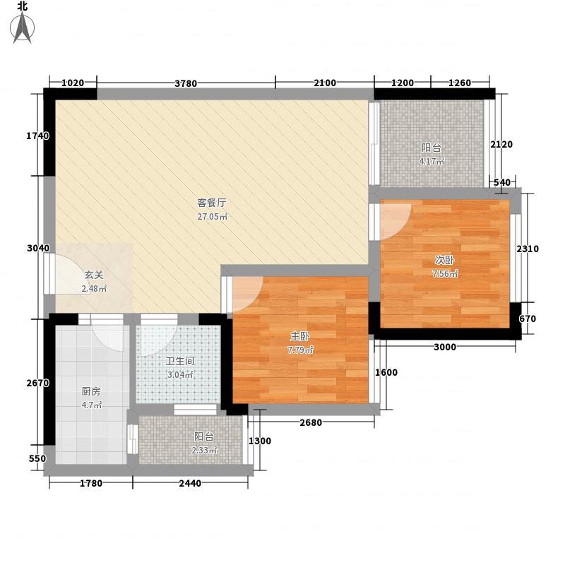 鑫阳公寓15户型2室2厅1卫1厨