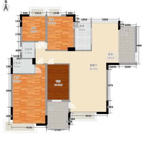 东润华庭4室1厅2卫1厨185.00㎡户型图
