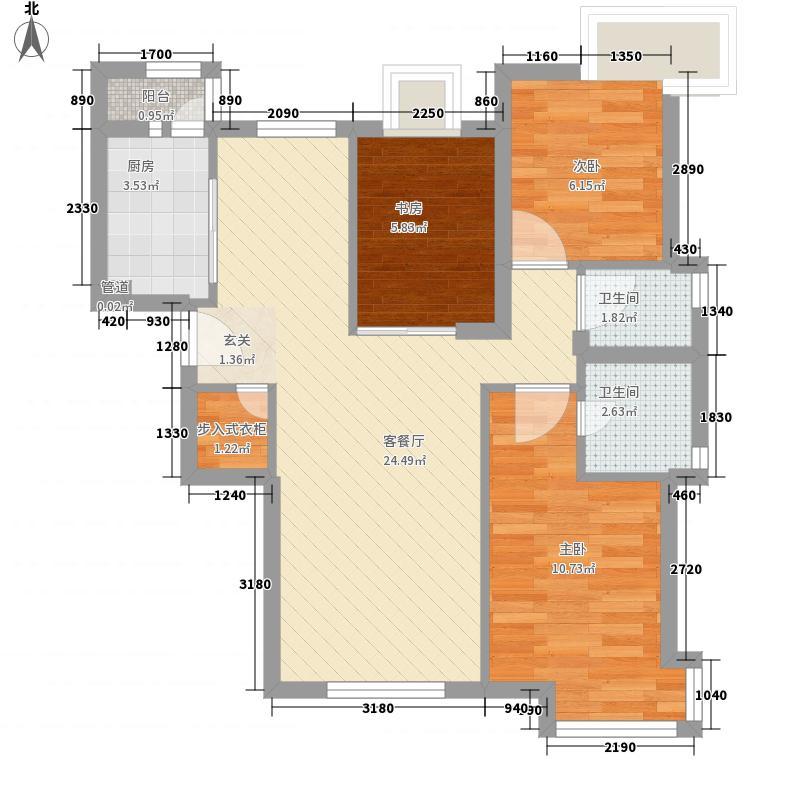三木花园B区83.00㎡户型3室