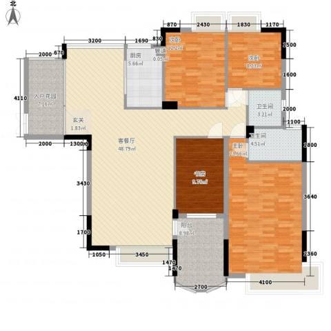 东润华庭4室1厅2卫1厨183.00㎡户型图