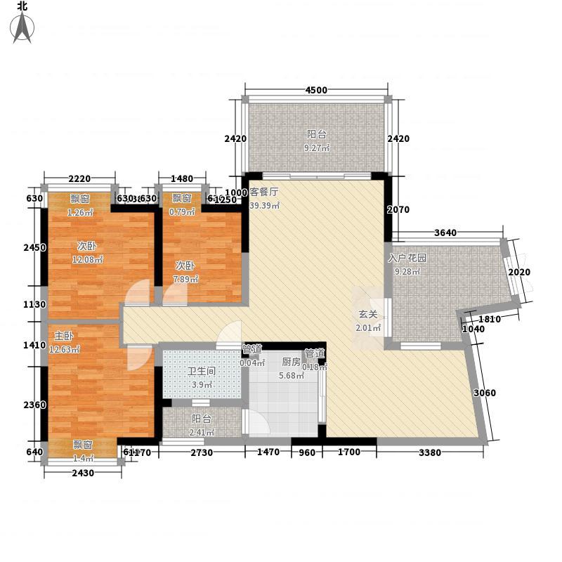 梧侣村3-2-1-1-6户型3室2厅1卫1厨