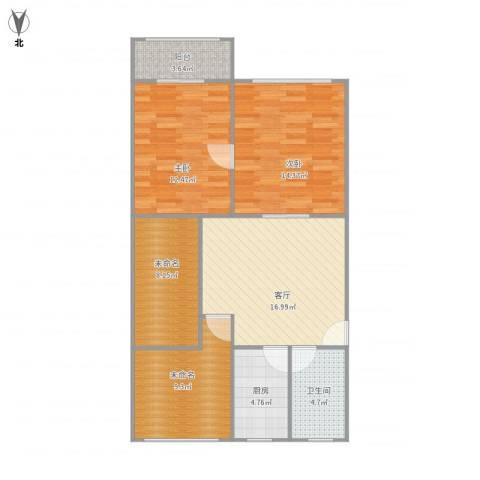 平南三村2室1厅1卫1厨99.00㎡户型图