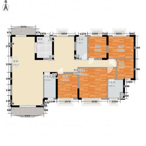 江南名苑5室1厅3卫1厨195.00㎡户型图