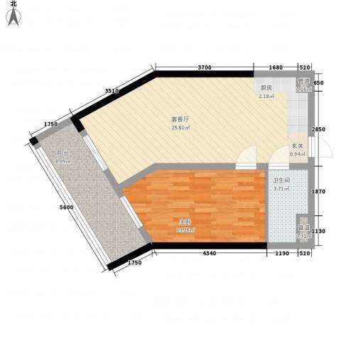 合景・月亮湾1室1厅1卫0厨67.00㎡户型图