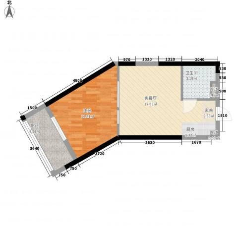 合景・月亮湾1室1厅1卫0厨52.00㎡户型图