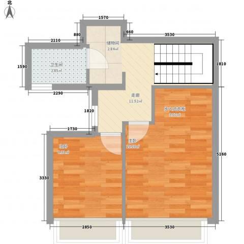 万科金域华府2室0厅1卫0厨136.00㎡户型图