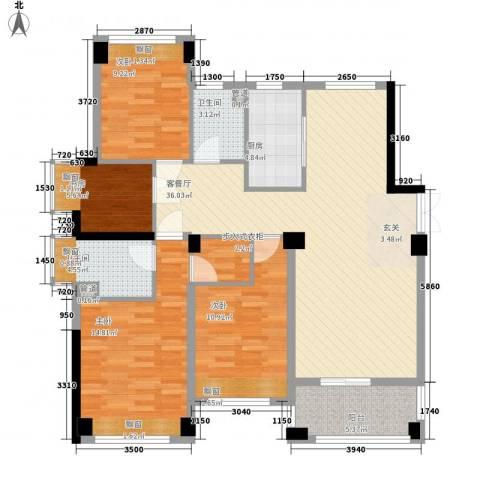 五洲国际4室1厅2卫1厨139.00㎡户型图
