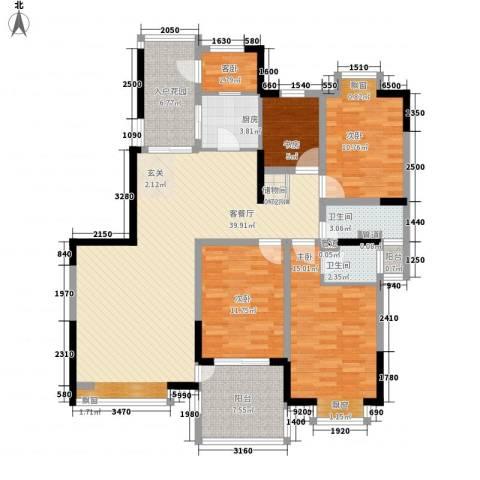 棕榈泉国际花园5室1厅2卫1厨161.00㎡户型图