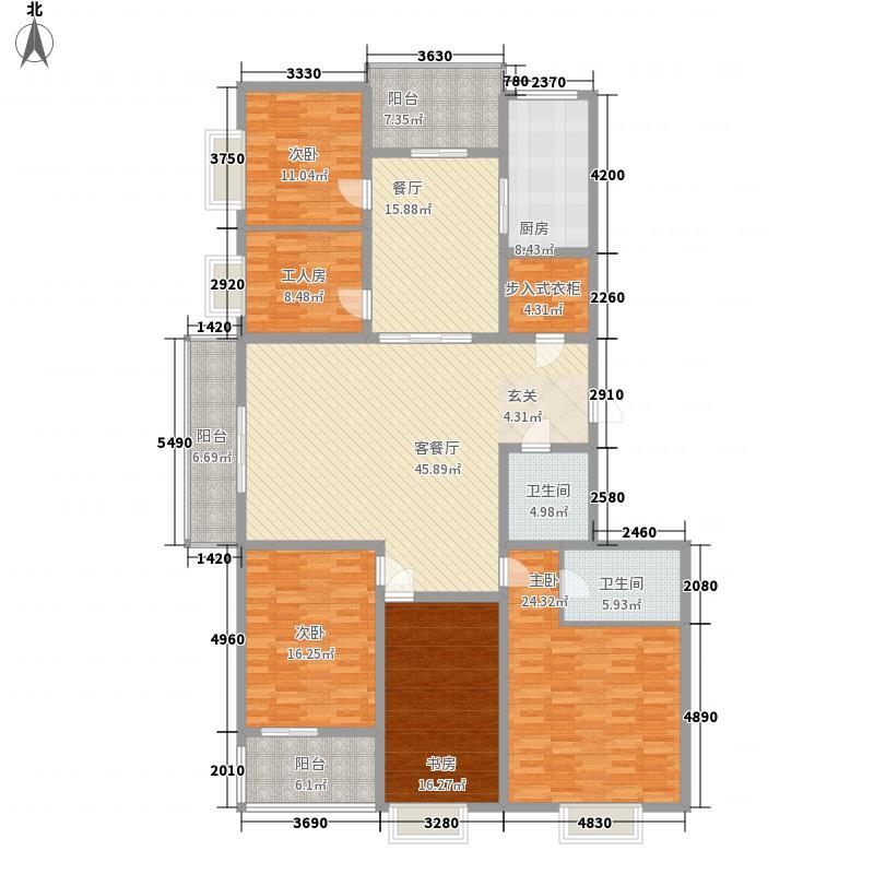双水湾名门A户型4室2厅2卫1厨