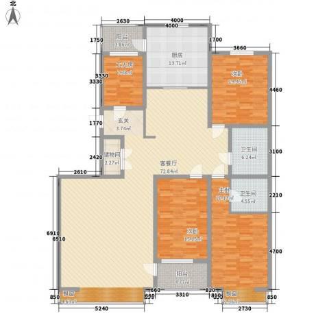 双水湾名门3室1厅2卫1厨231.00㎡户型图