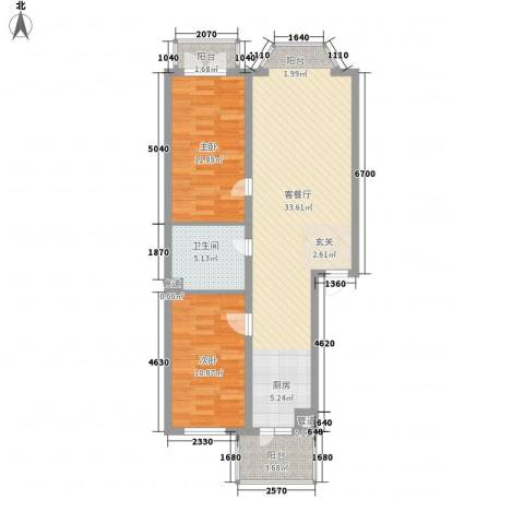 旭辉苑2室1厅1卫0厨95.00㎡户型图