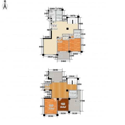 柏顿公馆4室1厅3卫1厨236.00㎡户型图