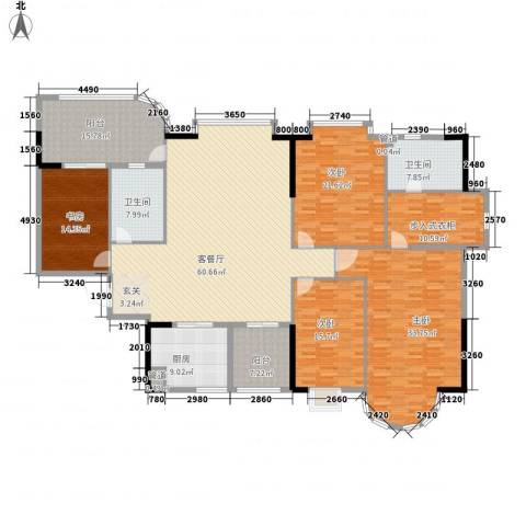 颐景园4室1厅2卫1厨280.00㎡户型图