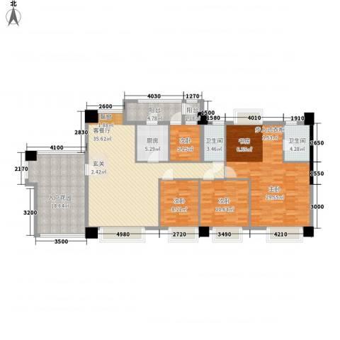 名店国际公寓4室1厅2卫1厨126.79㎡户型图