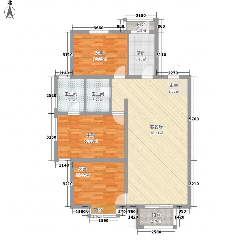 郦湖户型3室2厅2卫1厨