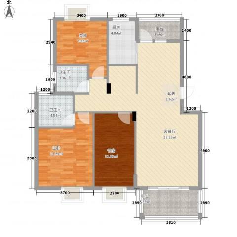 维也纳花园3室1厅2卫1厨113.00㎡户型图