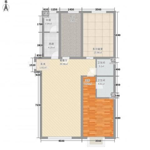 阳光100国际新城二期1室1厅2卫0厨139.00㎡户型图