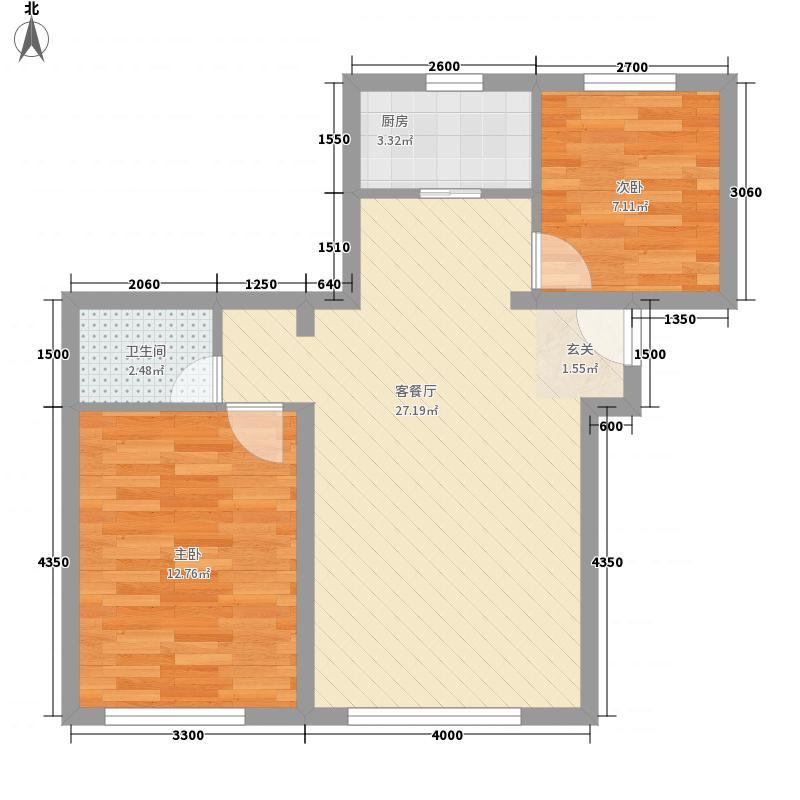 荷兰小镇二期85.00㎡标准层A户型