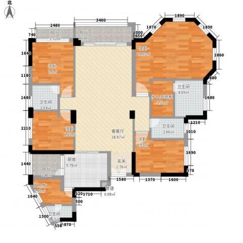 聚富花园4室1厅4卫1厨139.00㎡户型图