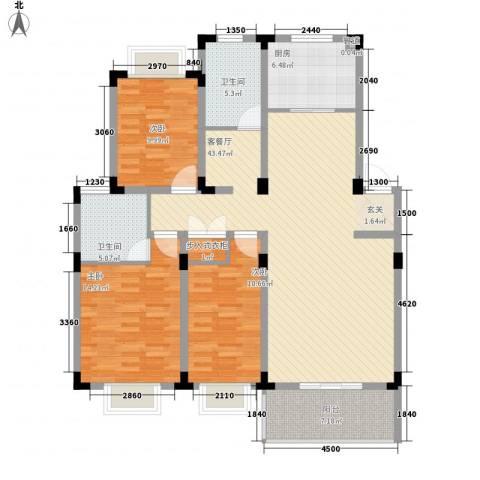 康城水云间3室1厅2卫1厨148.00㎡户型图