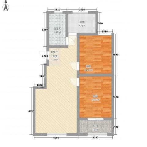 都市新村2室1厅1卫1厨94.00㎡户型图