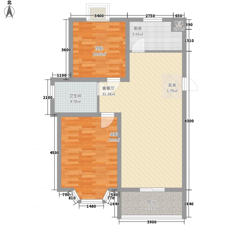 福星嘉苑户型2室