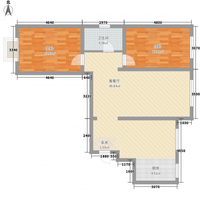 兴隆电力小区1户型2室2厅1卫1厨