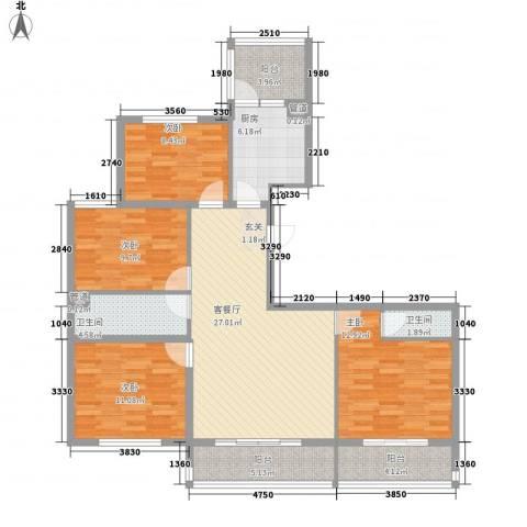 盛世龙庭4室1厅2卫1厨109.53㎡户型图