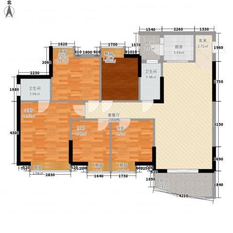 海天阳光花园5室1厅2卫1厨126.00㎡户型图