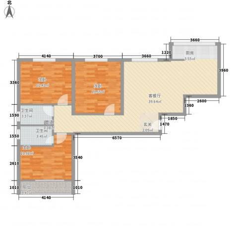 美意苑3室1厅2卫0厨121.00㎡户型图