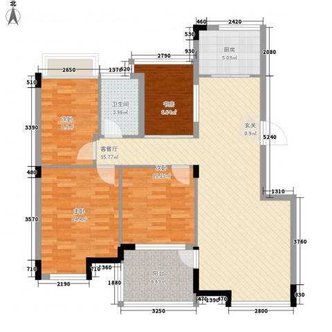 金水童话名苑4室1厅1卫1厨110.00㎡户型图