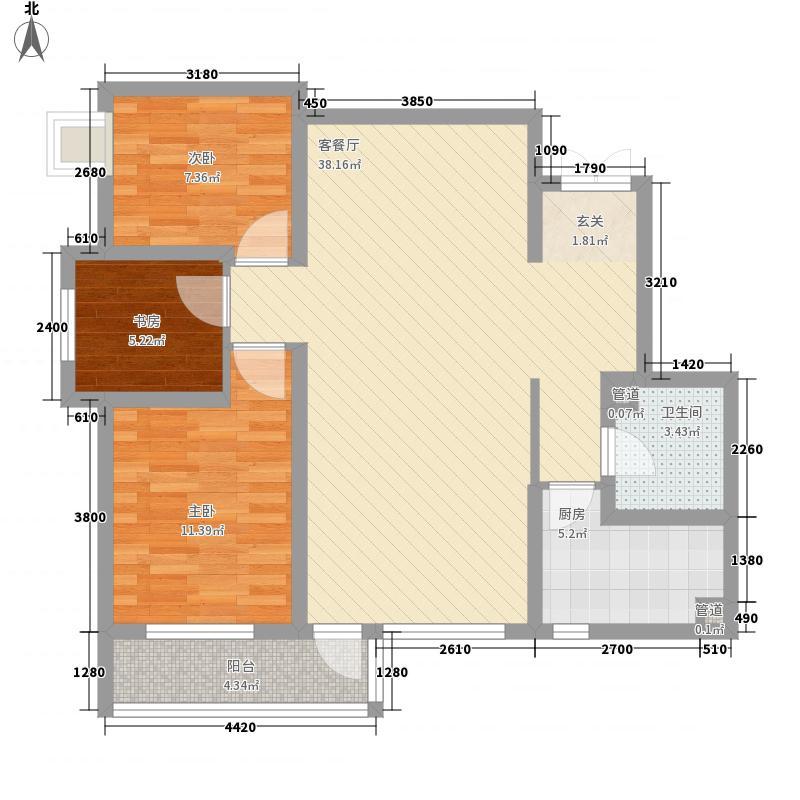 康大风和日丽18.40㎡3期C户型3室2厅1卫