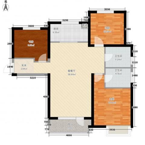 华润海中国3室1厅2卫1厨135.00㎡户型图