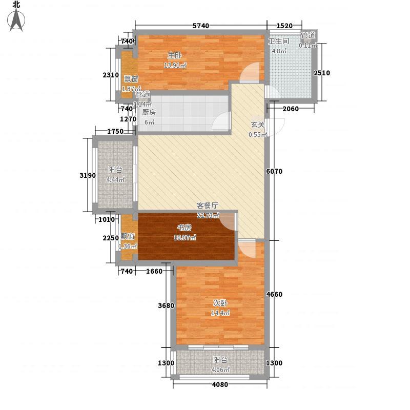 联城海岸锦城锦绣园116.33㎡29号楼西户A户型3室1厅1卫1厨