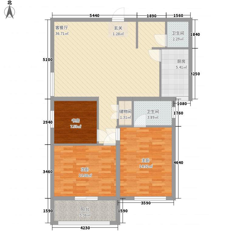 金海燕花园128.00㎡金海燕花园3室户型3室