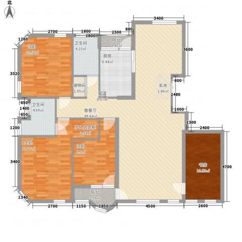 德泰岭秀逸城4室1厅2卫1厨156.00㎡户型图
