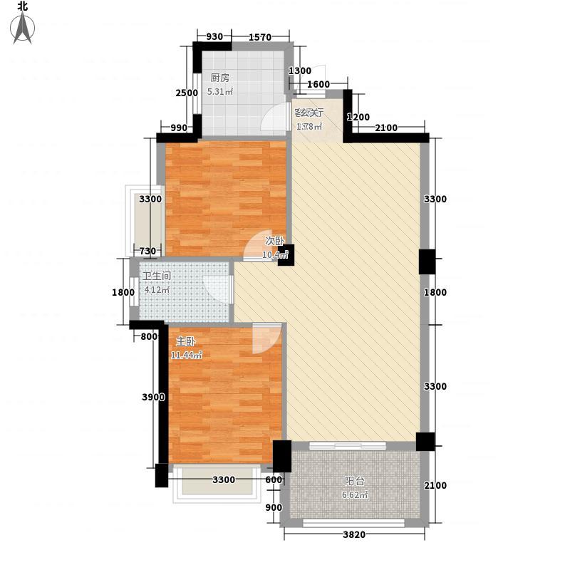 欣欣家园8.00㎡户型2室