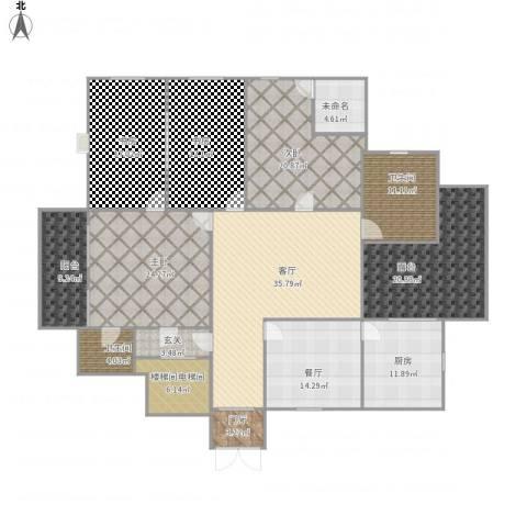 华馨苑别墅4室2厅2卫1厨271.00㎡户型图