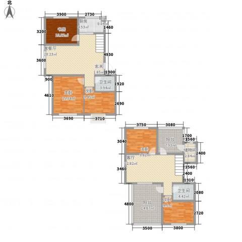 吉祥如意花园5室2厅2卫1厨144.55㎡户型图