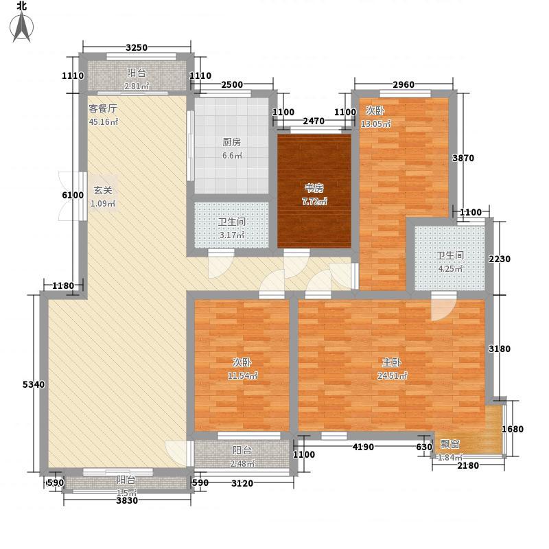 数码银座172.00㎡户型4室
