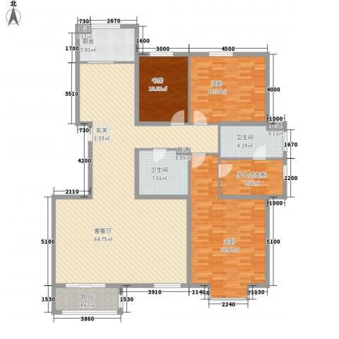 高祥里3室1厅2卫1厨208.00㎡户型图